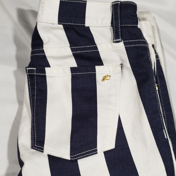 Juicy Couture Denim - Juicy Couture Navy and White Striped Skinny Jeans
